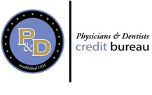 Physicians and dentists credit bureau company logo